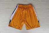 NBA球衣 勇士隊:勇士隊 球褲 黃色條紋1.jpg