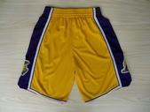 NBA球衣 湖人隊:湖人隊 球褲 黃色1.jpg