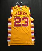 NBA球衣 騎士隊:騎士隊23號JAMES 復古 黃色黃邊1.jpg