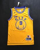 NBA球衣 勇士隊:勇士隊9號IGUODALA 復古 城市版 黃色.jpg