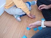 黏土遊戲:壓成一塊一塊的餅乾