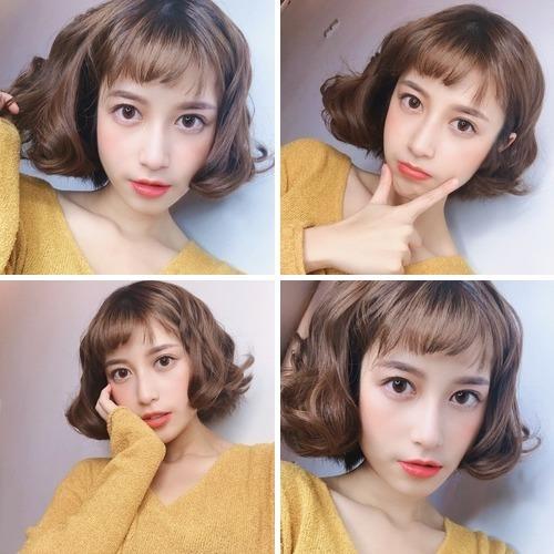 2020短髮女孩燙髮染髮:甜美系陽光米棕色 - 2020短髮女孩燙髮染髮:甜美系陽光米棕色